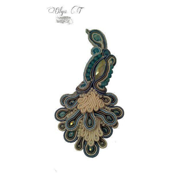 Bird of paradise soutache brooch pendant shop online on brooches handmade livemaster handmade buy bird of paradise soutache brooch aloadofball Images