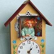 Для дома и интерьера ручной работы. Ярмарка Мастеров - ручная работа Кукла Домовой Яшка  - хранитель часов. Handmade.