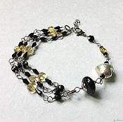 Украшения handmade. Livemaster - original item The bracelet is made of spinel and citrine. Handmade.