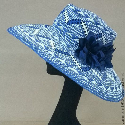 Шапки ручной работы. Ярмарка Мастеров - ручная работа. Купить Летняя шляпка. Handmade. Синий, шляпа, дизайнерская шляпка