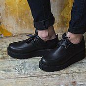 Обувь ручной работы handmade. Livemaster - original item Women`s shoes from genuine leather Atlas on the tractor sole. Handmade.