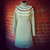 Одежда ручной работы. Ярмарка Мастеров - ручная работа Платье вязанное спицами. Handmade.