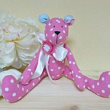 Куклы и игрушки ручной работы. Ярмарка Мастеров - ручная работа Розовый мишка. Handmade.