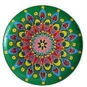 Для дома и интерьера handmade. Livemaster - original item Plate decorative wall Green Mandala. Handmade.