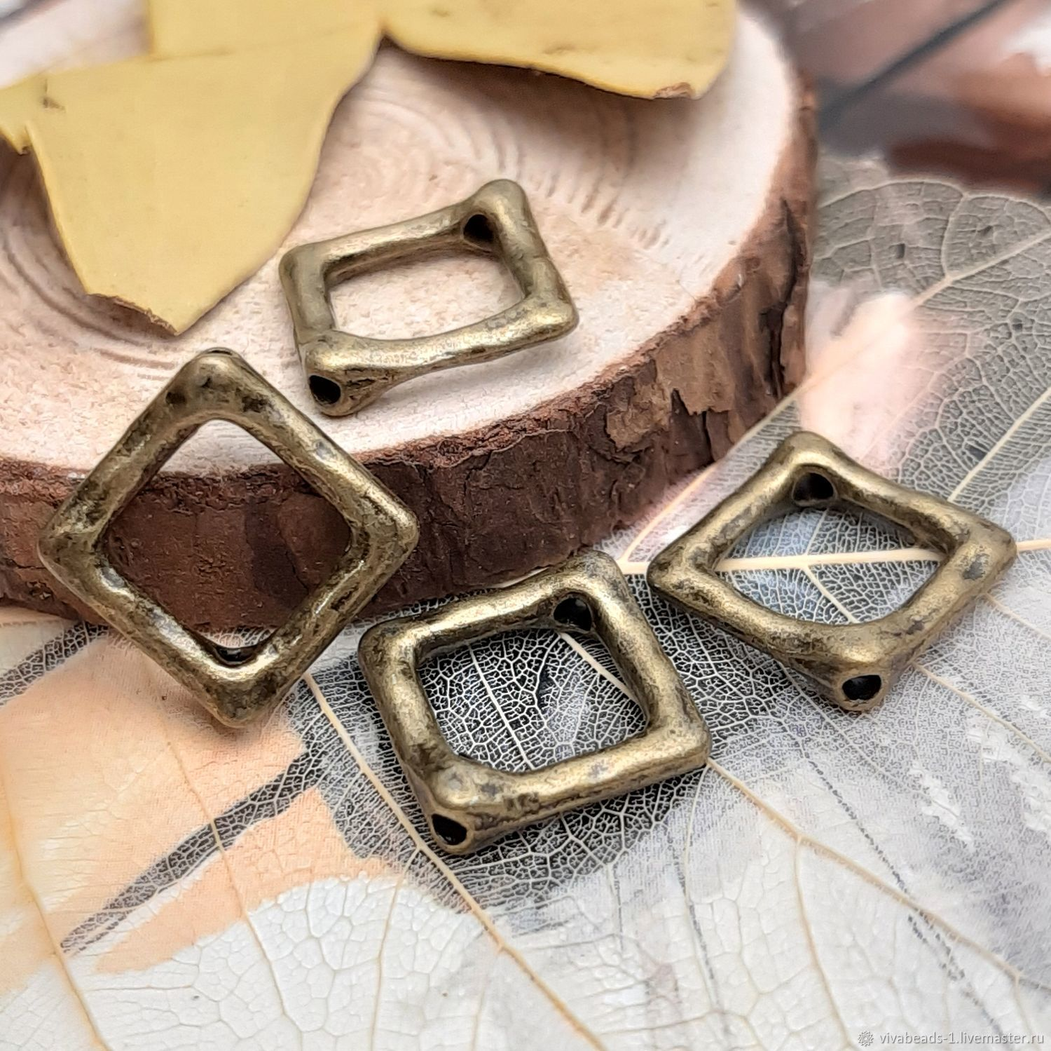 Frame for 16h2 mm beads-bronze (art. 3381), Accessories for jewelry, Voronezh,  Фото №1