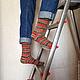 Носки, Чулки ручной работы. Ярмарка Мастеров - ручная работа. Купить Носки вязаные Christmas. Handmade. Носки, подарок