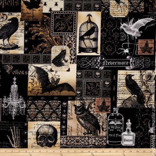 """Шитье ручной работы. Ярмарка Мастеров - ручная работа. Купить Хлопок для шитья. (3 вида) """"Старинные Гравюры"""". Американская ткань.. Handmade."""