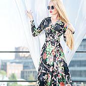 Одежда ручной работы. Ярмарка Мастеров - ручная работа Летнее платье на запах в макси длине.. Handmade.