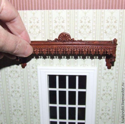 Кукольный дом ручной работы. Ярмарка Мастеров - ручная работа. Купить Миниатюра 1:12. Карниз для штор в кукольный дом. Handmade.