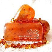 """Косметика ручной работы. Ярмарка Мастеров - ручная работа Мыло для сухой кожи """"Янтарь"""", оранжевый, подарки на 8 марта, подарок. Handmade."""