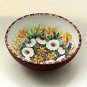 Посуда ручной работы. Ярмарка Мастеров - ручная работа Керамическая тарелка миска (майолика). Handmade.