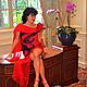 """Платья ручной работы. Платье ручной работы """"Tango solo"""". KiEra. Ярмарка Мастеров. Нуновойлок, шёлковые волокна, красный"""