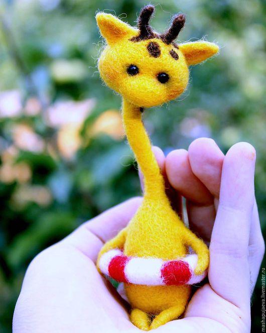 Игрушки животные, ручной работы. Ярмарка Мастеров - ручная работа. Купить Жирафик Момо. Handmade. Желтый, жирафик, жираф из шерсти
