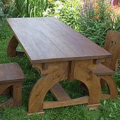 Для дома и интерьера handmade. Livemaster - original item Wooden 2-meter table made from cedar wood Medieval. Handmade.