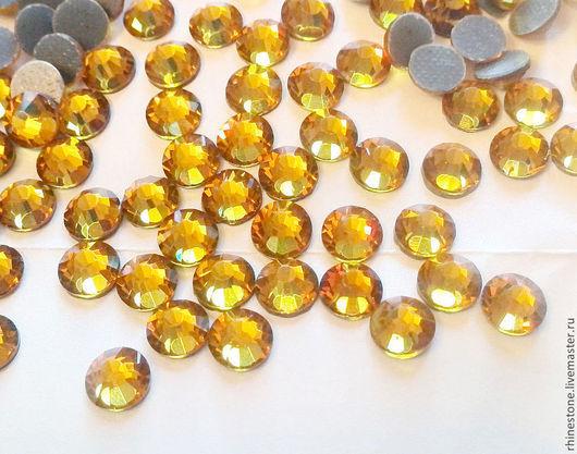 Стразы Aroshirva горячей фиксации цвет Dark amber\r\nss16 упаковка 10 гросс - 460руб