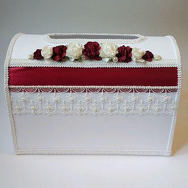 Свадебный салон ручной работы. Ярмарка Мастеров - ручная работа Свадебный сундучок марсала. Handmade.