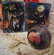 Подарки к праздникам handmade. Livemaster - original item Halloween cats - charity lot. Handmade.