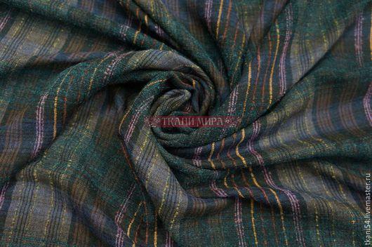 Шитье ручной работы. Ярмарка Мастеров - ручная работа. Купить Ткань плат. клетка 0022/1, 150 см, морская волна. Handmade.