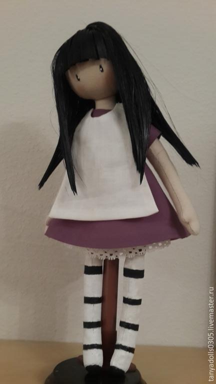 Коллекционные куклы ручной работы. Ярмарка Мастеров - ручная работа. Купить Куколка из серии Gorjuss. Handmade. Сиреневый, текстильная кукла