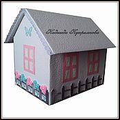 Свадебный салон ручной работы. Ярмарка Мастеров - ручная работа Свадебная казна-домик для денег с открывающейся крышей. Handmade.