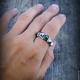 """Кольца ручной работы. """"Rock-n-roll"""" серебряное кольцо унисекс. Euphoretic. Ярмарка Мастеров. Кольцо байкера, кольцо из серебра"""