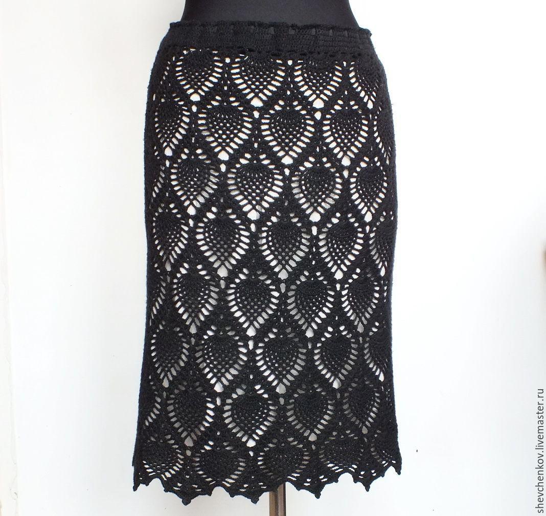 Офисная юбка крючком