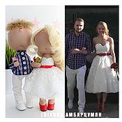Куклы и игрушки ручной работы. Ярмарка Мастеров - ручная работа Портретные текстильные куклы. Жених и невеста. Молодожены. Handmade.