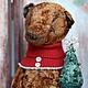 Мишки Тедди ручной работы. Заказать Рождественский мишка. Марина Струк. Ярмарка Мастеров. Плюшевый мишка, плюш, шплинты