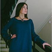 Одежда ручной работы. Ярмарка Мастеров - ручная работа Кофта из синей шерсти пехорка. Handmade.