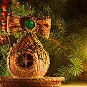 Елочные игрушки ручной работы. Ярмарка Мастеров - ручная работа Ёлочная игрушка Сказочный домик-луковица. Handmade.