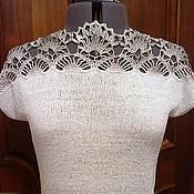 """Одежда ручной работы. Ярмарка Мастеров - ручная работа Топ-блуза """"Гипюр"""". Handmade."""