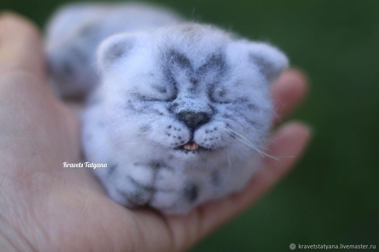 Copyright felt toy kitten Tiger:), Felted Toy, Kuragino,  Фото №1
