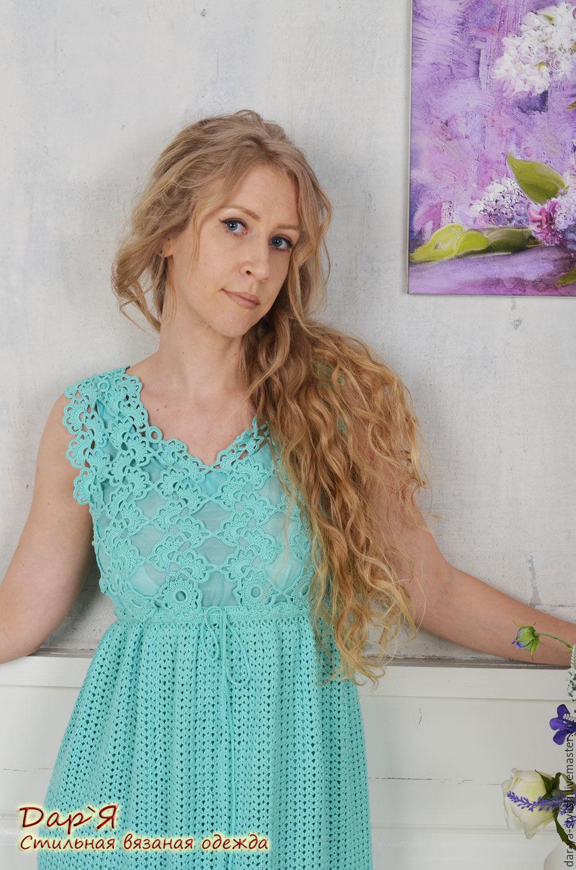 Вязаное летнее платье фото