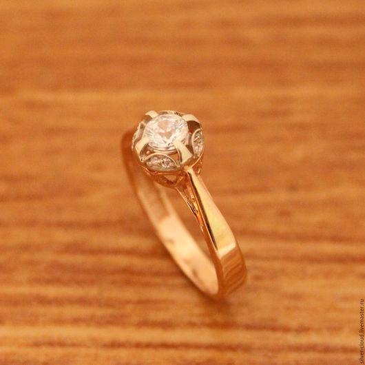 Кольца ручной работы. Ярмарка Мастеров - ручная работа. Купить Золотое кольцо Афродита, золото 585. Handmade. Золотой