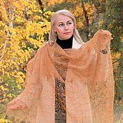 Аксессуары handmade. Livemaster - original item Shawls: Openwork down shawl-gossamer