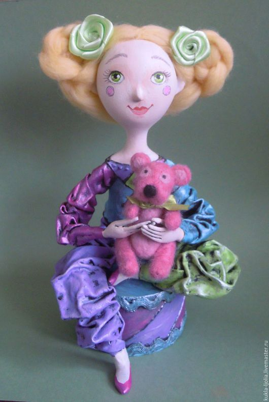 Коллекционные куклы ручной работы. Ярмарка Мастеров - ручная работа. Купить клоун. Handmade. Клоун, кукла ручной работы