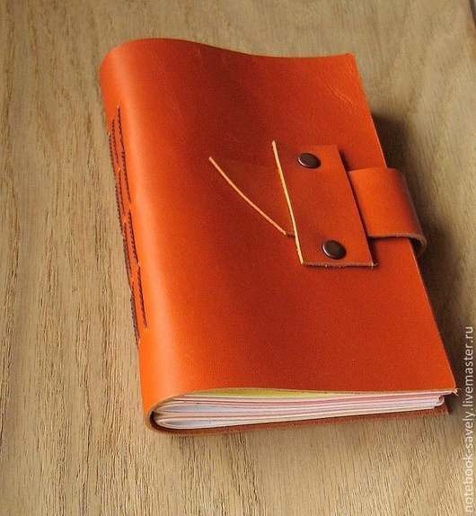 Блокноты ручной работы. Ярмарка Мастеров - ручная работа. Купить Рыжий блокнот. Кожа. Handmade. Рыжий, для записей, кожаный блокнот
