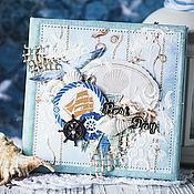 """Канцелярские товары ручной работы. Ярмарка Мастеров - ручная работа Обложка для диска """"Море зовет"""". Handmade."""