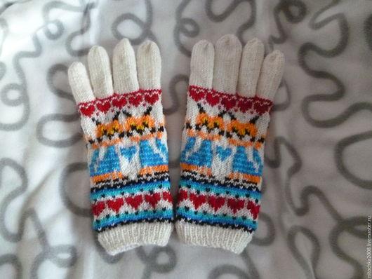 """Варежки, митенки, перчатки ручной работы. Ярмарка Мастеров - ручная работа. Купить Перчатки """"Кис-кис"""". Handmade. Комбинированный"""