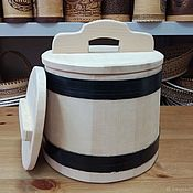 Jars handmade. Livemaster - original item The wooden tub made of cedar for pickling 5 liters. Barrel pickles. Handmade.