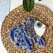 Картины и панно handmade. Livemaster - original item Ceramic hand panel: Oriental Beauty. Handmade.
