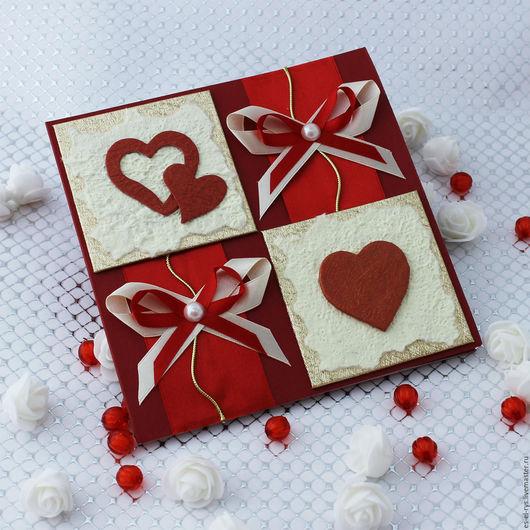 Эксклюзивная открытка, ручной работы ` Love`