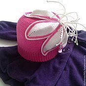 Работы для детей, handmade. Livemaster - original item Cap knitted for girl White Lily. Handmade.
