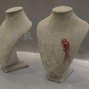 Материалы для творчества ручной работы. Ярмарка Мастеров - ручная работа Манекен Шея h27 см серый бархат. Handmade.