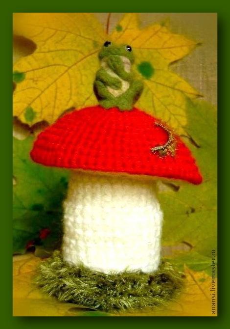 """Подарочная упаковка ручной работы. Ярмарка Мастеров - ручная работа. Купить Мешочек """"Удивлённая Лягушка"""". Handmade. Гриб, шкатулка"""