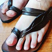 """Обувь ручной работы. Ярмарка Мастеров - ручная работа Кожаные сандалии """"Leaf"""". Handmade."""