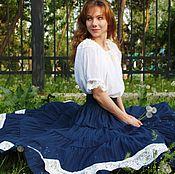 """Одежда handmade. Livemaster - original item Бохо юбочка """"Просто лето"""" для Ирины. Handmade."""