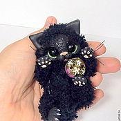 Куклы и игрушки ручной работы. Ярмарка Мастеров - ручная работа Черный котик. Handmade.