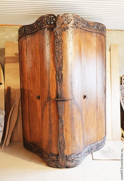 Мебель ручной работы. Ярмарка Мастеров - ручная работа. Купить Мебель. Шкаф резной из дуба. Handmade. Шкаф, резьба по дереву
