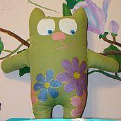 """Куклы и игрушки ручной работы. Ярмарка Мастеров - ручная работа мягкая игрушка """"Весенний кот"""". Handmade."""